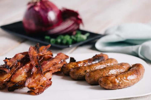 Pig of the Month - Best of Bacon & Sausage Sampler Gift Pack (6 lbs) - 3 lbs of Bacon + 3 lbs of Sausage