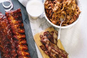 Pig of the Month - The Big Pig Best Seller Sampler:  Bacon, Ribs & Pulled Pork