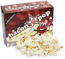 J&D's BaconPOP Bacon Flavor Microwave Popcorn Flavored Pop Corn (Box of 3 Bags)
