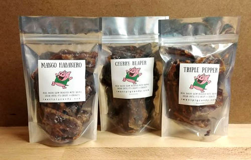 Pig Candy Firecracker Pack - Candied Bacon Hot & Spicy Flavors Variety Pack (3 Flavor Sampler)