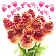 Bacon Roses - VALENTINE'S DAY PRE-ORDER - Bacon Bouquets Long Stem Bacon Rose Bouquet