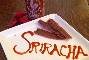 Sriracha Candied Bacon Jerky - Love Cyn Gourmet Tangy Candied Bacon (5 oz bag)