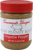 Gourmets Unique Hot & Spicy Bacon Peanut Butter with Chipotle Pepper (11 oz)