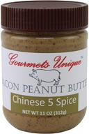Gourmets Unique Chinese 5 Spice Bacon Peanut Butter with Chinese Spices (11 oz)