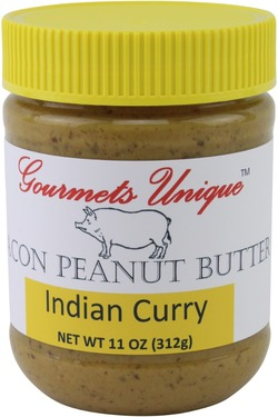 Gourmets Unique Curry Bacon Peanut Butter with Indian Spice (11 oz)