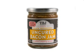 Black Pepper Bacon Jam - TWO PACK - Uncured Black Peppercorn Bacon Jam Spread (2 x 9 oz jars)