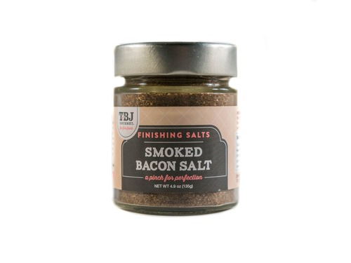 Smoked Bacon Salt - Pink Himalayan Salt & Bacon Blend Finishing Salt (4.9 oz)