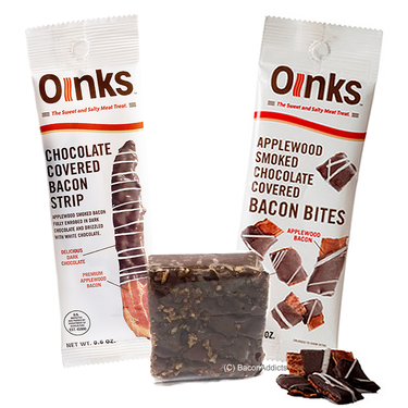 Genesee Bacon Chocolate Sampler (3pc Gift Set) - Bacon Bites, Bacon Chocolate Fudge & Dark Chocolate Covered Bacon Strip