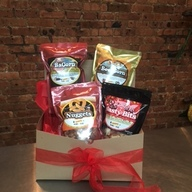Roni-Sue's Bacon & Brew Combo Package (4pc Gift Set) - BaCorn, Beer Corn, Nasty Bits & Beer Caramel Pretzel Nuggets