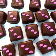Roni Sue's Little Piggy Caramels - Chocolate Covered Maple Bacon Caramels (12 ct)