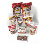 Roni-Sue's Bacon & Beer Dream Pack (9pc Gift Set) - BaCorn, BeerCorn, BeerCrunch, Pig Candy, Nasty Bits, Bacon Buttercrunch, Maple Bacon Lollipops, Beer Caramel Pretzel Nuggets & Caramels