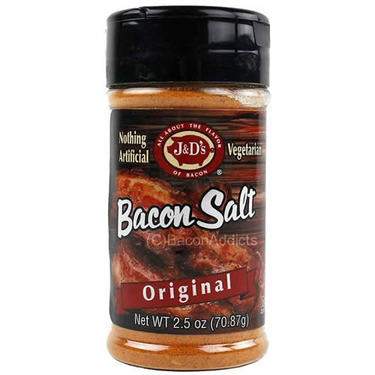 J&D's Original Bacon Salt Low Sodium Bacon Flavored Seasoning