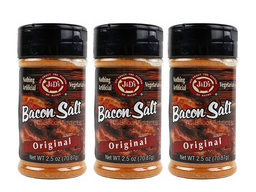 J&D's Original Bacon Salt - 3 PACK - Low Sodium Bacon Flavored Seasoning Salts