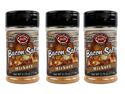 J&D's Hickory Bacon Salt - 3 PACK - Low Sodium All Natural Flavored Seasoning
