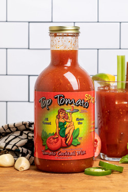 """Circle B Ranch """"Top Tomato"""" Spicy Bacon Bloody Mary Kit - Spicy Bloody Mary Mix, Hickory Smoked Bacon & Bacon Snack Sticks"""