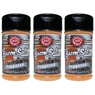 J&D's Peppered Bacon Salt - 3 PACK - Low Sodium All Natural Flavored Seasoning