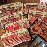 Bacon Steak Sampler Pack - Dry Cured Thick Cut Bacon Gourmet Smokehouse Gift Box