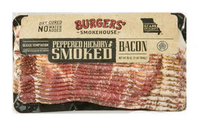 Sliced Hickory Smoked Peppered Country Bacon - Dry Cured Pepper Coated Gourmet Smokehouse Bacon Gift Box