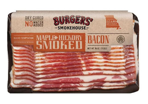 Sliced Hickory Smoked Maple Country Bacon - Dry Cured Gourmet Smokehouse Bacon Gift Box