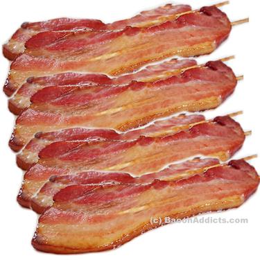 Bacon Skewers Variety Pack (4 Flavor Sampler) - Maple Chesapeake Bay, Char Siu, Vanilla Bourbon & Mango Habanero Skewered Bacon on a Stick  (4 Original Flavors)