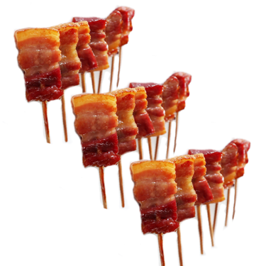 JD's House of Bacon Lollipops (3 Pack) - Smoked & Cured Skewered Bacon on a Stick Bite Size Lollipop (6 Flavor Options)