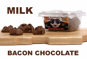 Milk Chocolate Covered Bacon Candy Clusters