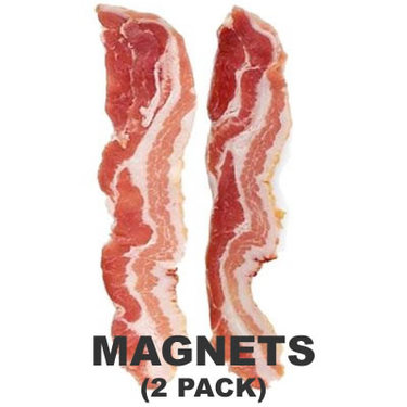 Bacon Slices Refrigerator Magnets - Bacon Strips Fridge Magnet Set (2 pk)