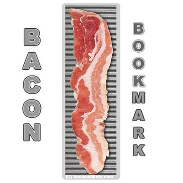 Bacon Slice Bookmark - Bacon Strip Book Page Marker - Double-Sided Laminated