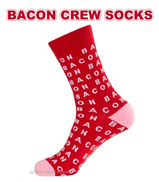 Bacon Crew Socks - Unisex Dress Socks