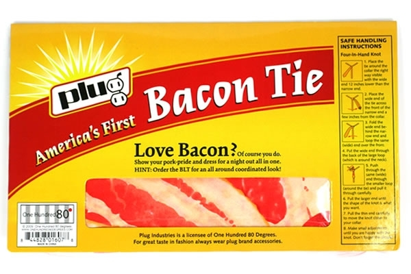 Bacon tie backl