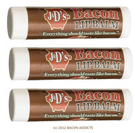J&D's Bacon Flavor Lip Balm Flavored Chap Stick (3 PACK)