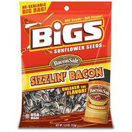 BIGS Sizzlin Bacon Flavored Sunflower Seeds (One Bag) - BEST BY 11/20/19