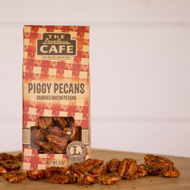 Loveless Cafe Maple Bacon Piggy Pecans Candied Nuts (3 oz Bag)