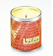 Bacon Scented Candle Sizzlin Bacon Scent Gag Gift (16 oz Raw Design)