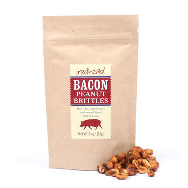 The Redhead Bacon Peanut Brittles Maple Bacon Peanuts Beer Nuts (4 oz Bag)