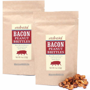 The Redhead Bacon Peanut Brittles Maple Bacon Peanuts Beer Nuts (TWO PACK)