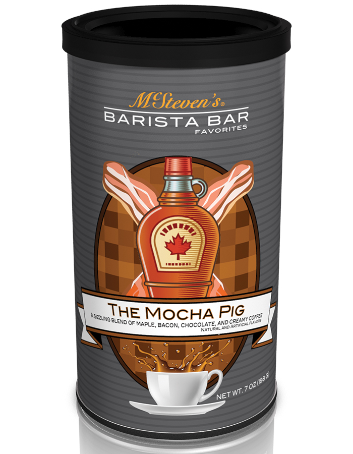 Mocha pig bacon choc coffee