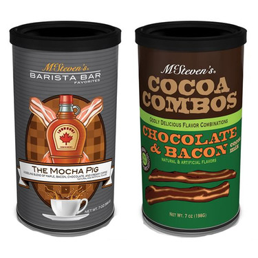 Bacon Hot Cocoa & Maple Bacon Chocolate Coffee Hot Drink Mix (Two Pack)