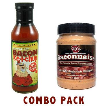 Bacon Ketchup & Baconnaise Bacon Mayonnaise Combo Pack