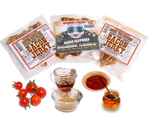 100% Real Bacon Jerky - Sweet Combo Pack (3 Flavors)