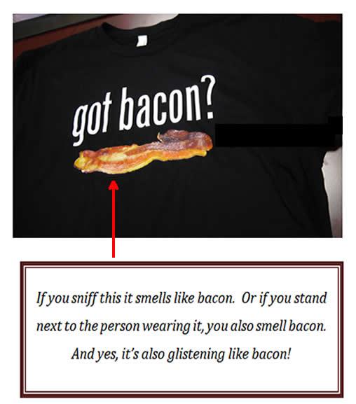 Got bacon scent