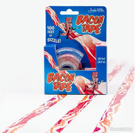 "Bacon Tape - 3/4"" Bacon Strip Scotch Tape with Dispenser (100 ft roll)"