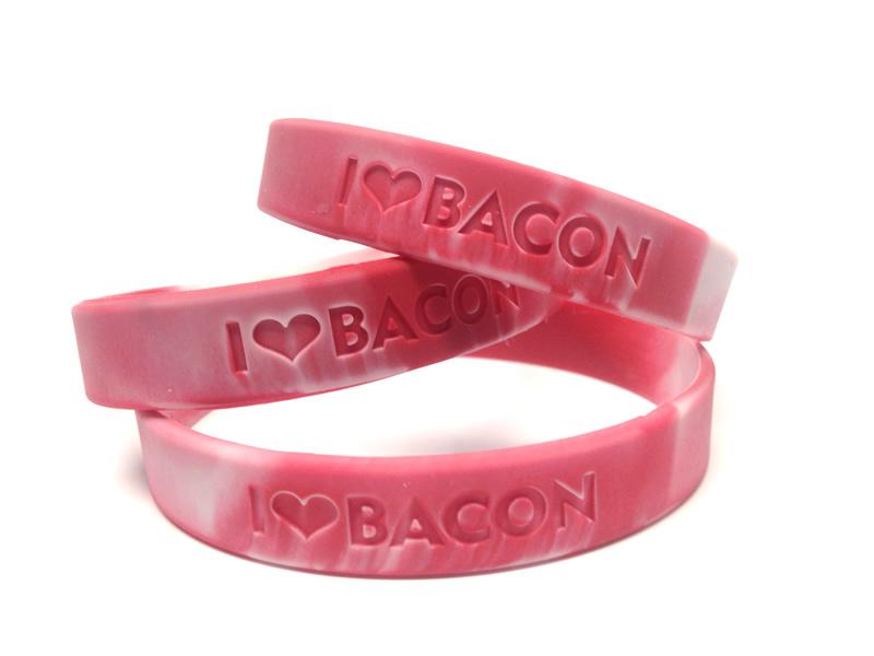 I Heart Bacon wristband from Bacon Addicts at BaconAddicts.com