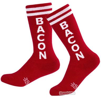 Kid's Bacon Gym Socks - Kids Knee High Unisex Retro Athletic Tube Socks