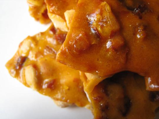 Bacon brittle closeup