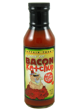 Bacon Flavor Ketchup Flavored Catsup (12 oz bottle)
