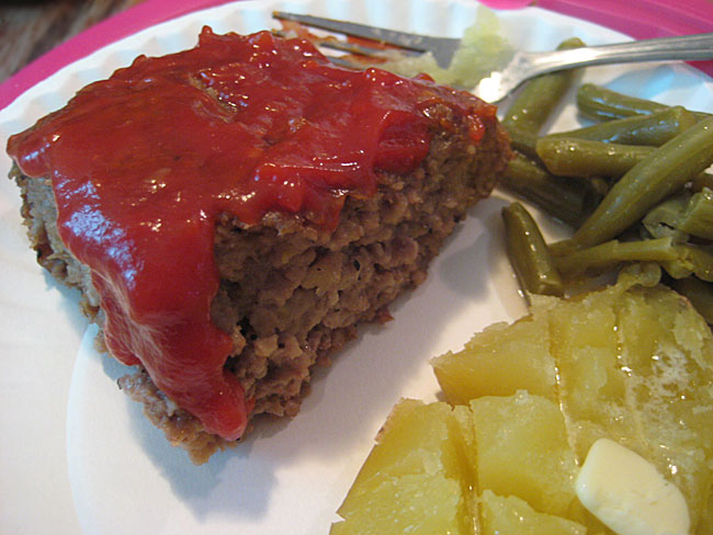 Bacon ketchup meatloaf
