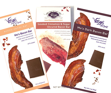 Vosges Bacon Bar Sampler - Milk, Dark & Cinnamon Sugar Bacon Chocolate Bars (3 Pack)