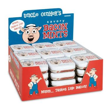 BULK Uncle Oniker's Bacon Flavor Mints Flavored Candy (36ct Retail Case)
