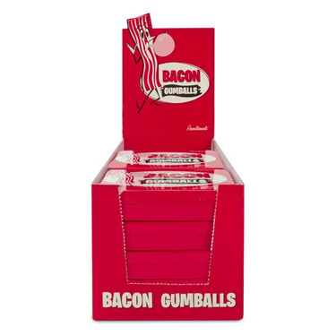 BULK Bacon Gumballs - Bacon Flavored Gum Balls Candy (12ct Retail Case)